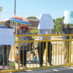 UNAM staff on strike