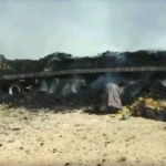 Looters take whats left of burned cargo