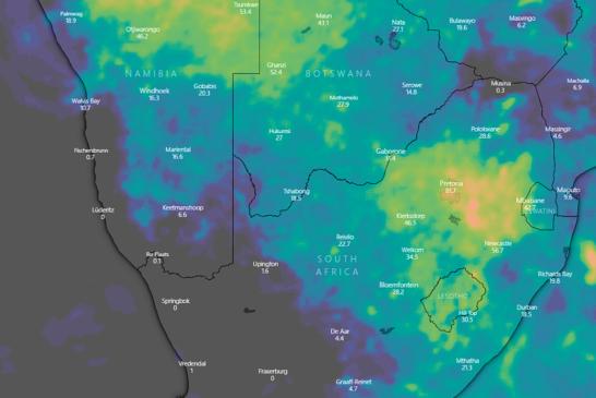 Outlook for rain over the next ten days