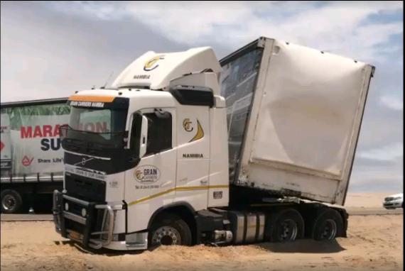 Consternation as truck gets stuck on B2
