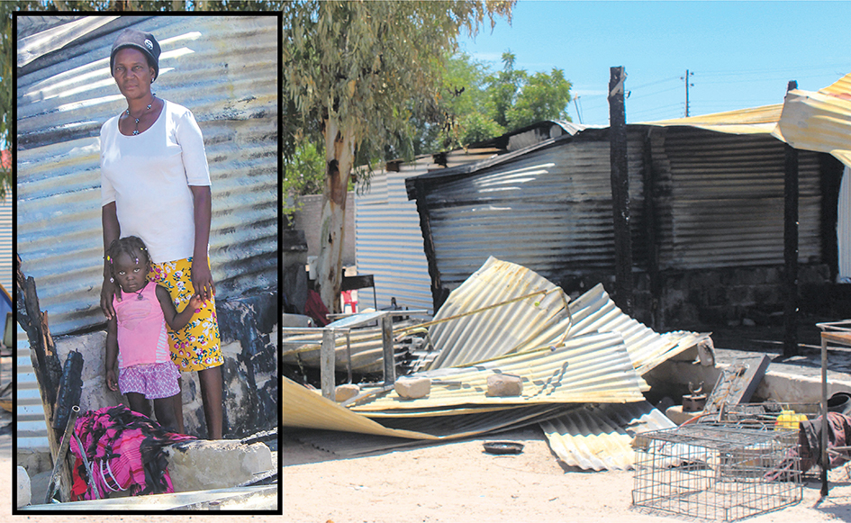 Oshakati family left homeless after fire