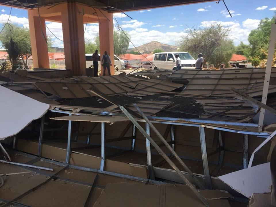 Roof collapses at Windhoek Country Club and Resort