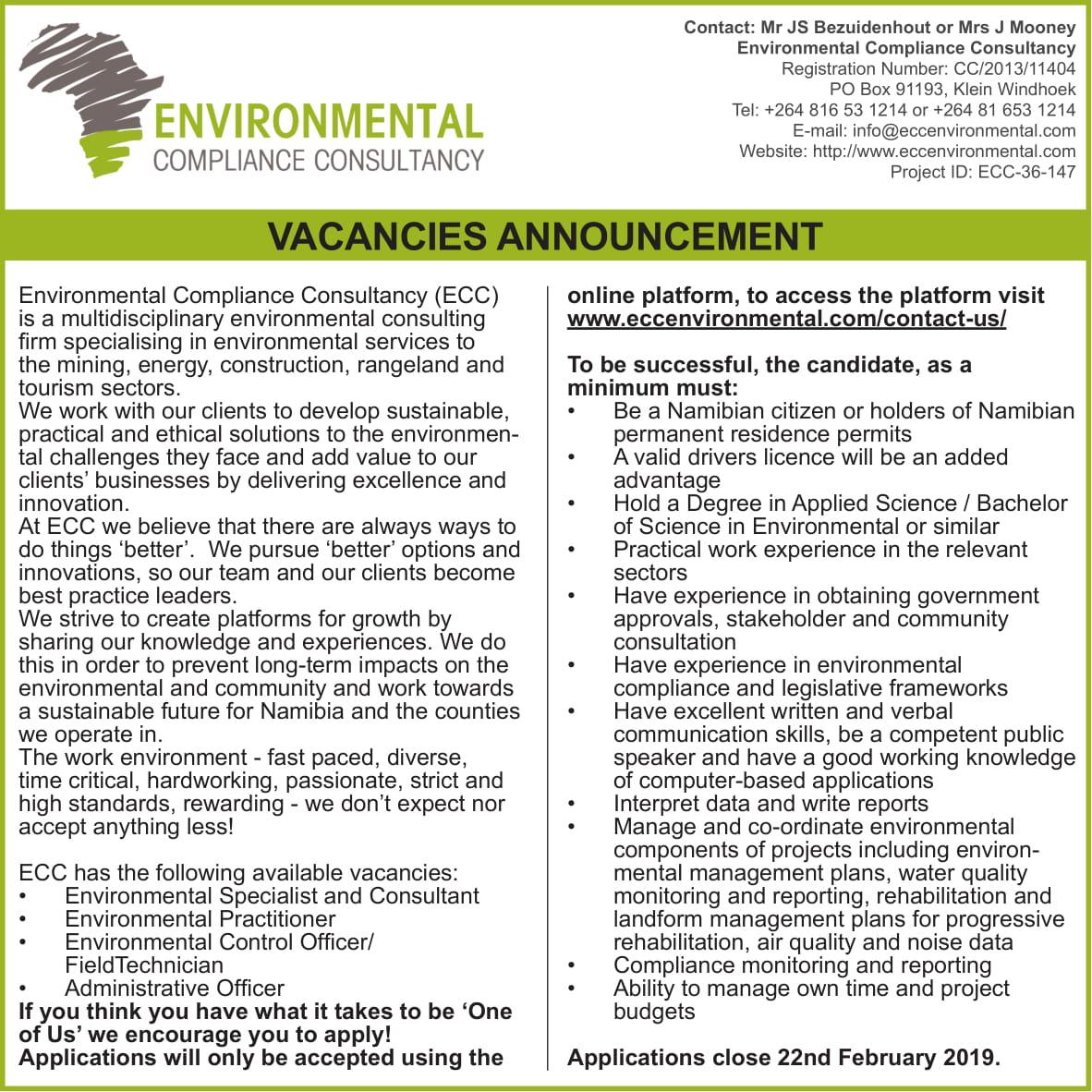 Environmental Compliance Consultancy