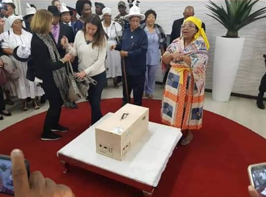 Historical moment as Witbooi Bible arrives in Namibia