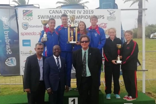 Namibian swimmers stand their ground