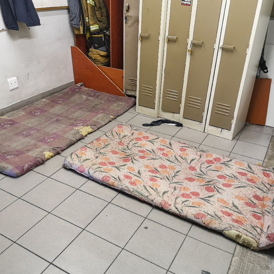 NAC firefighters living in appalling conditions