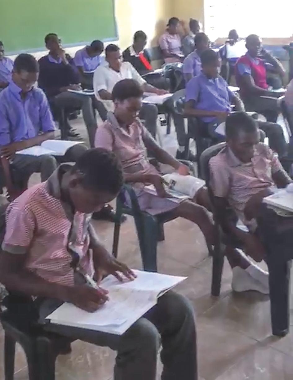 Omutaku learners bring own chairs to school