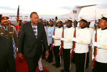 President Kenyatta arrives in Namibia for official state visit