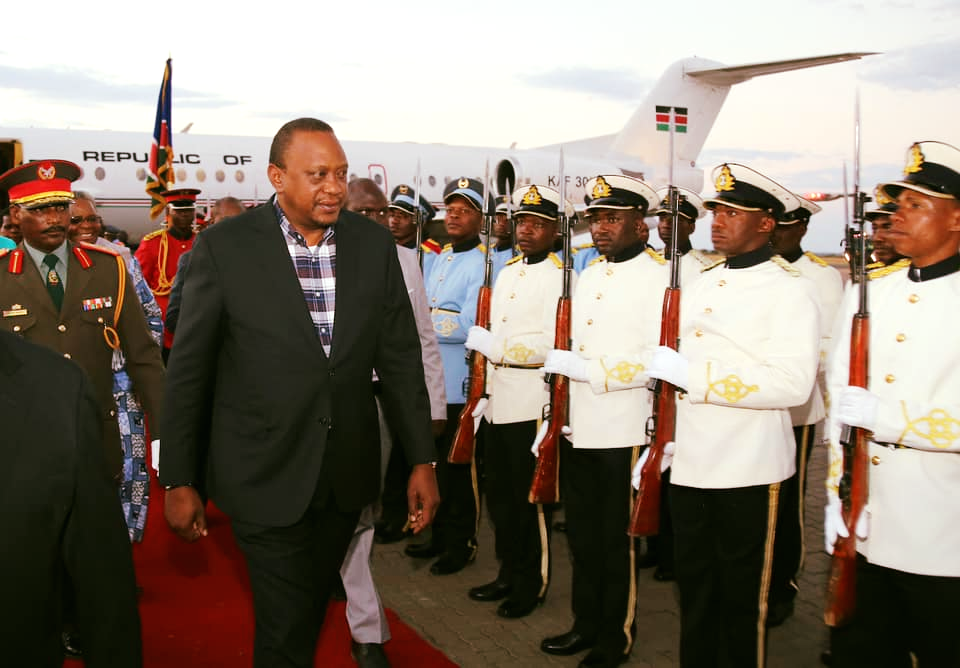 President Kenyatta arrives in Namibia for official state visit