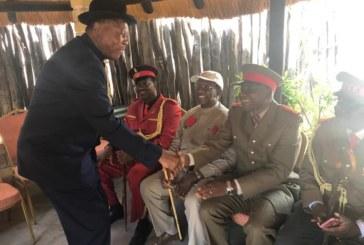Paramount Chief visits late Omukwaniilwa homestead