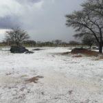 Hail storm inundates farm near Gobabis