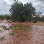 Rivers run after good rains in north western Namibia