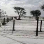 """Snow"" in Gobabis"