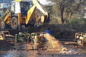 Water supply swiftly restored northern suburbs of Windhoek