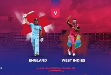 England wins toss and opts to bowl against the Windies