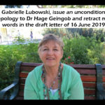 UNCONDITIONAL APOLOGY AND RETRACTION