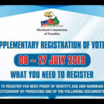 Supplementary voter registration starts today