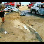 Accident scene was tampered with