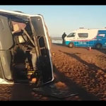 Workers survive serious bus accident
