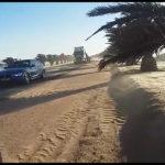 Sandstorm envelopes coastal towns