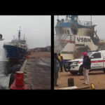 Emotional scenes as dead sailor is brought ashore