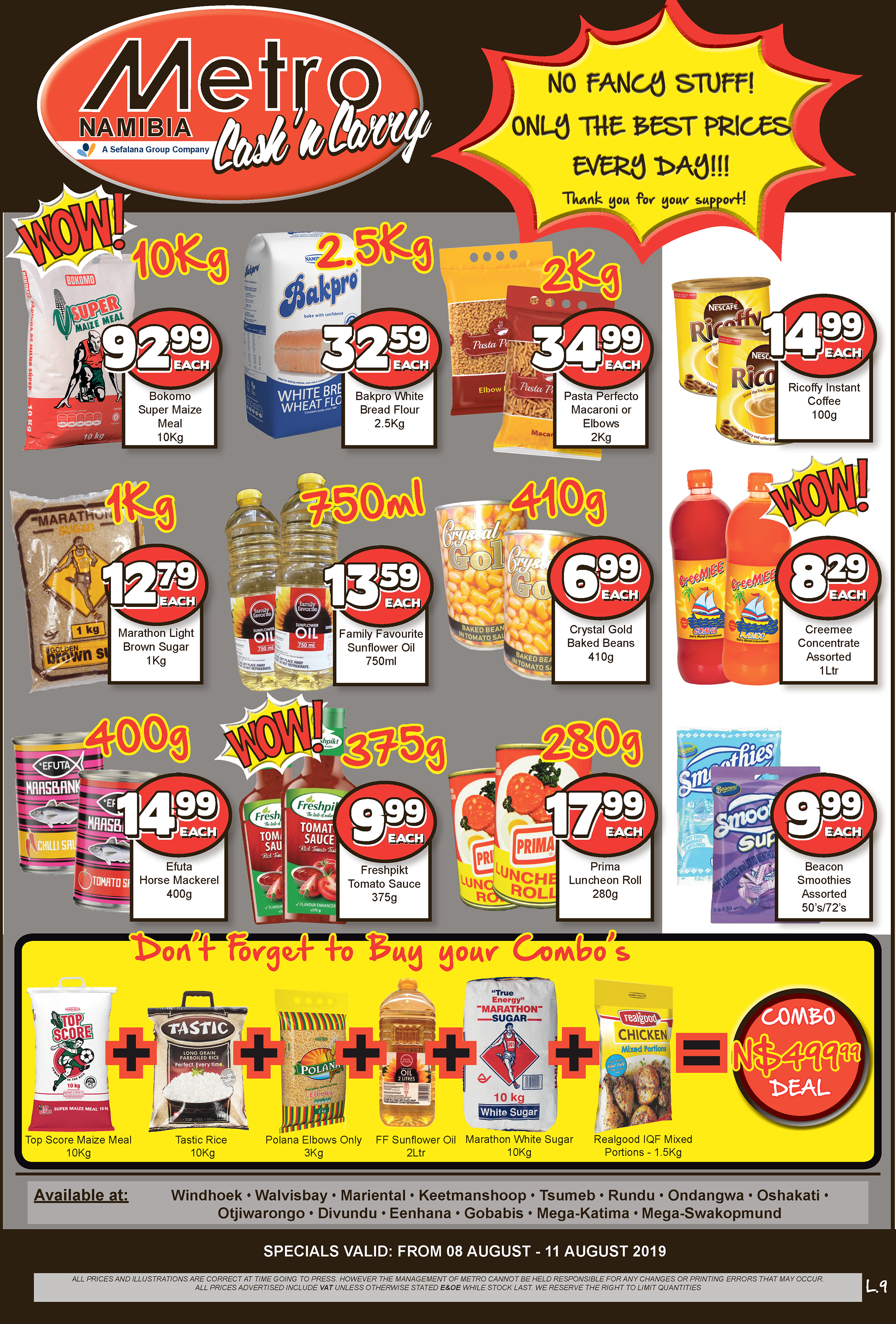 Metro Cash 'n Carry - Specials valid from 8 August to 11