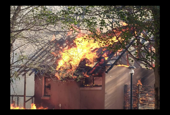 Shortfall in the tourism industry as lodge catches fire