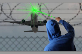 Lasers pointed at aircraft may lead to disaster