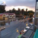 Welcome rain falls sporadically
